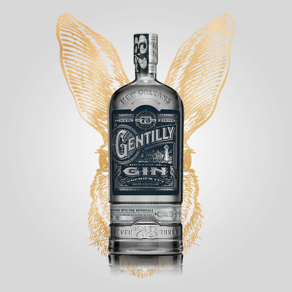 Seven Three Distilling Gentilly Gin | 750ml	(43.50%) | New Orleans Distillery - Rusty Rabbit Spirits Lounge - buy alcohol online