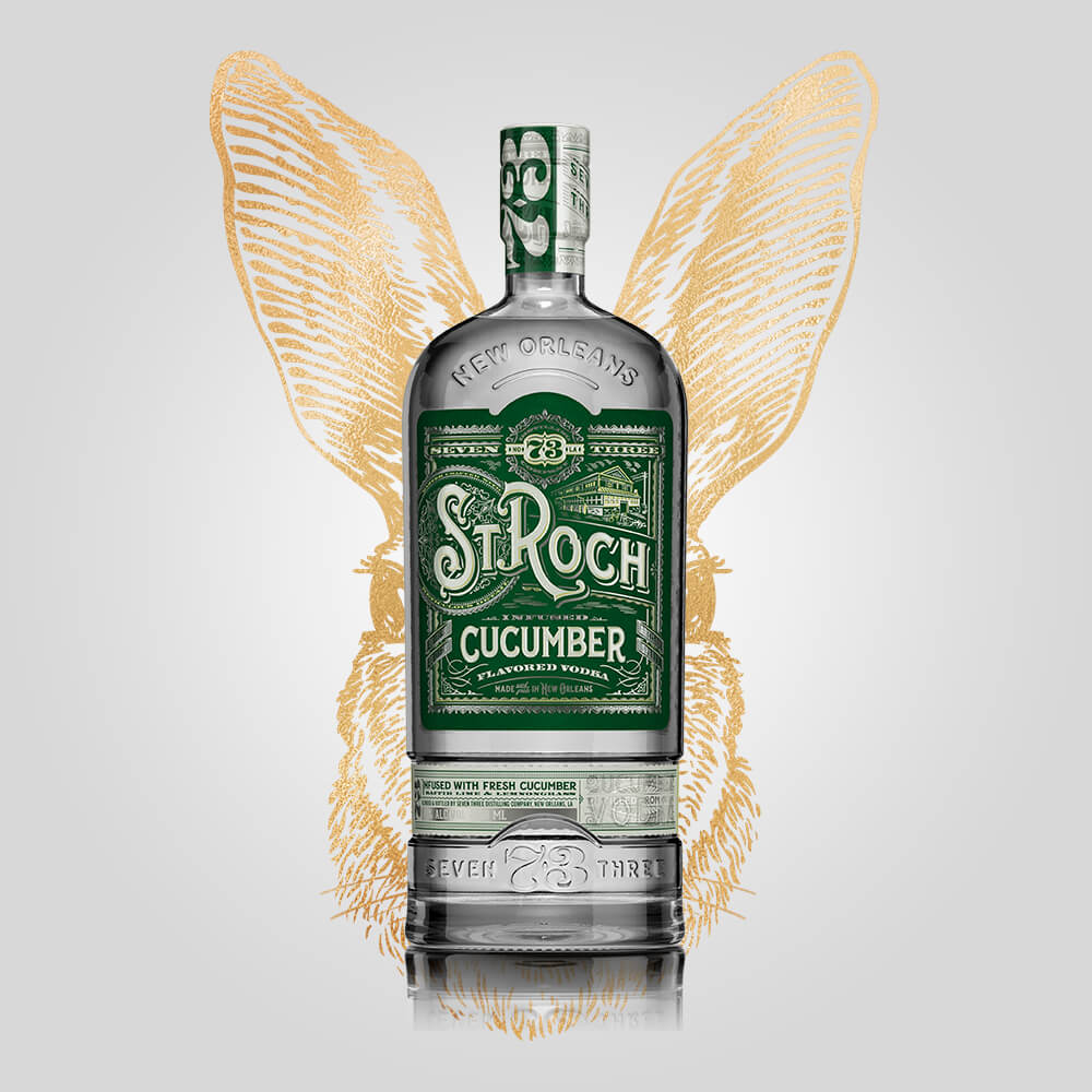 Seven Three Distilling St Roch Cucumber Vodka | 750ml (40%) | New Orleans Distillery - Rusty Rabbit Spirits Lounge - buy alcohol online
