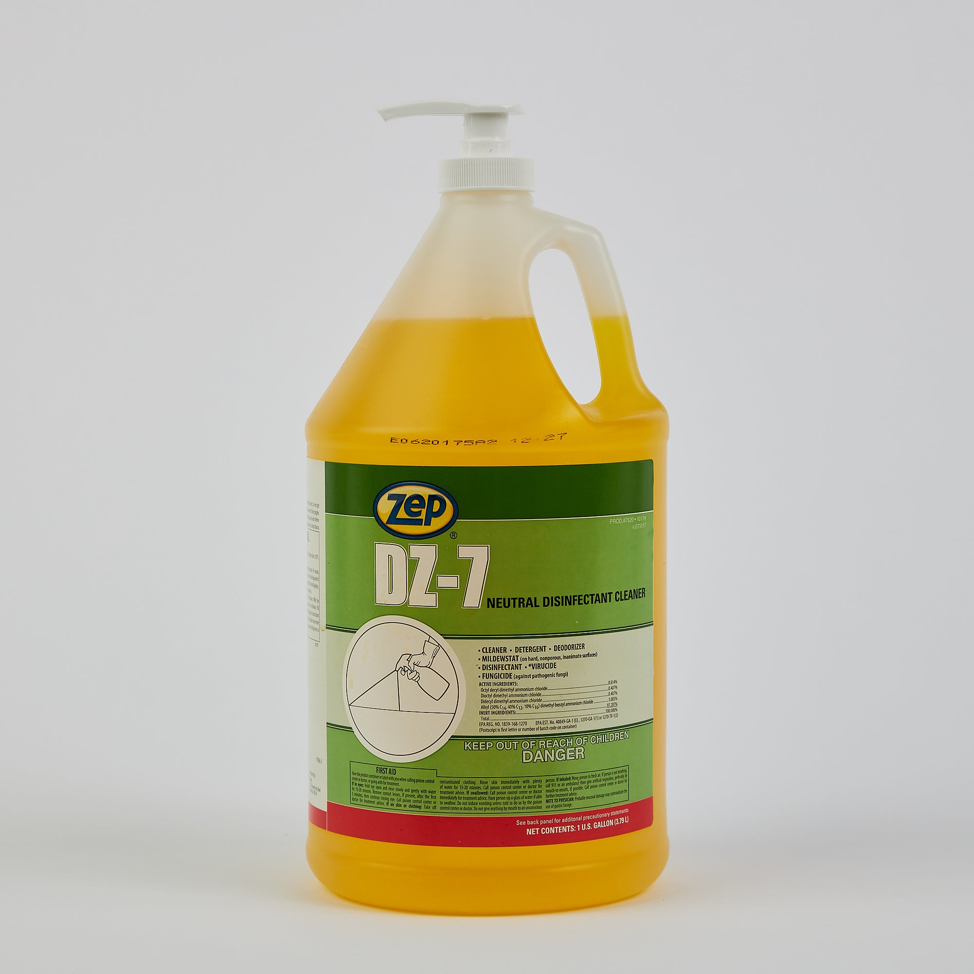 Zep DZ-7 - 1-gallon Surface Disinfectant Concentrate (Case of 4)
