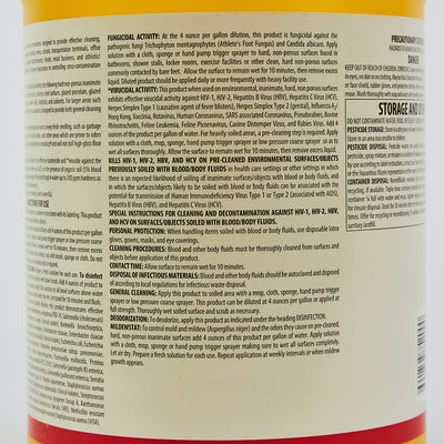 Zep DZ-7 Surface Disinfectant Concentrate Case of 4($6.25 / Gallon)