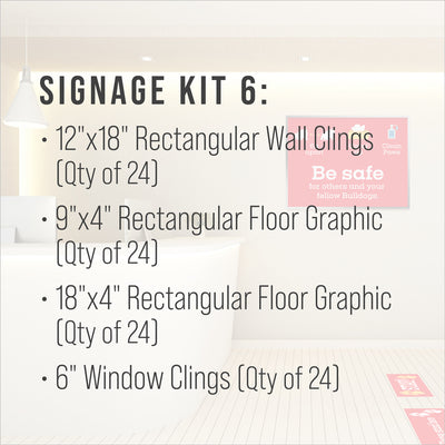 Signage Kit 6 - includes 24 of each item.