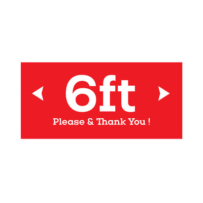 Floor Graphics (Pack of 4) - 6ft Please & Thank You Graphic