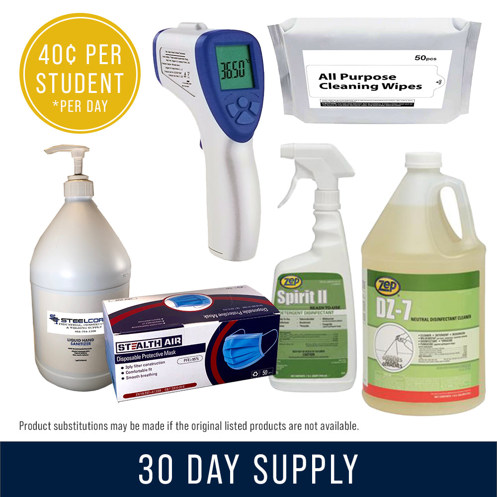 30 Day Supply (w/Cleaning Wipes)