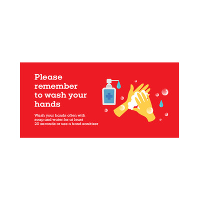 Window Cling (Pack of 4) – Please Remember To Wash Your Hands Cling