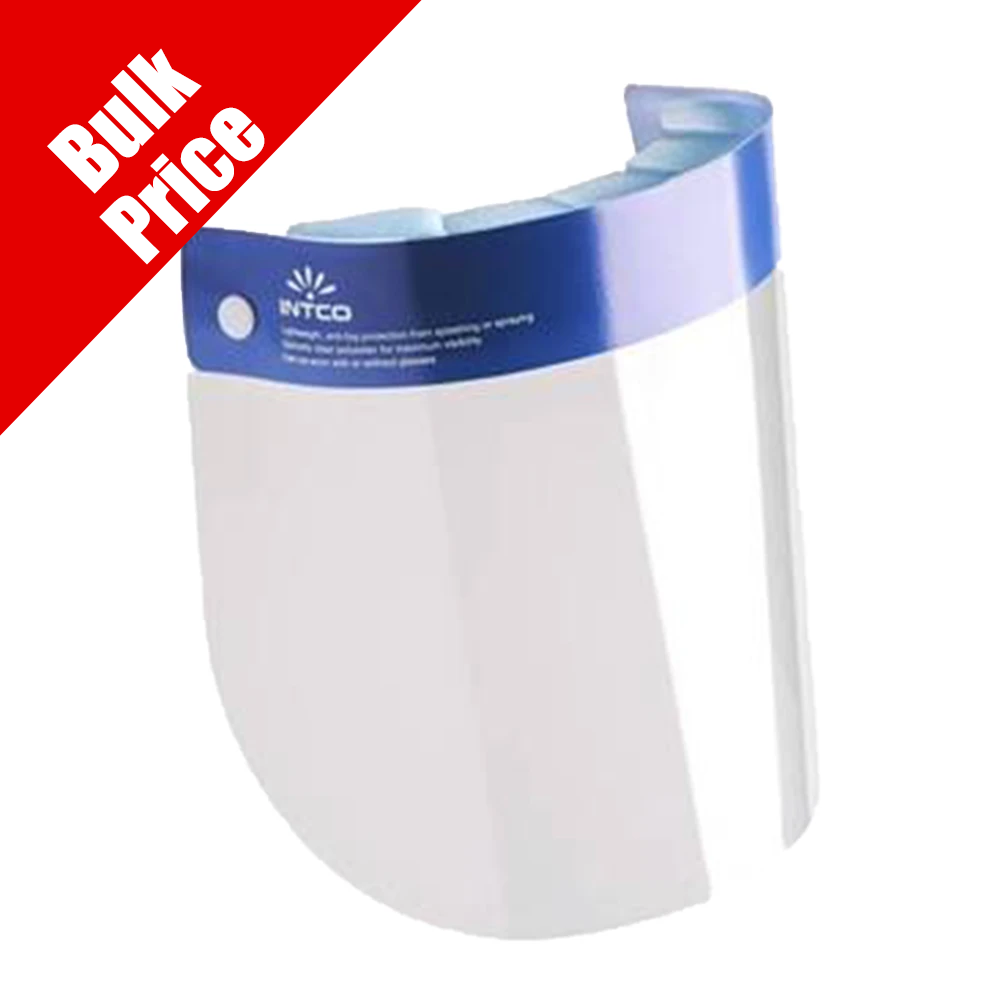 Face Shield Bulk Qty 10 Cases of 25 ($1.50 / Shield)