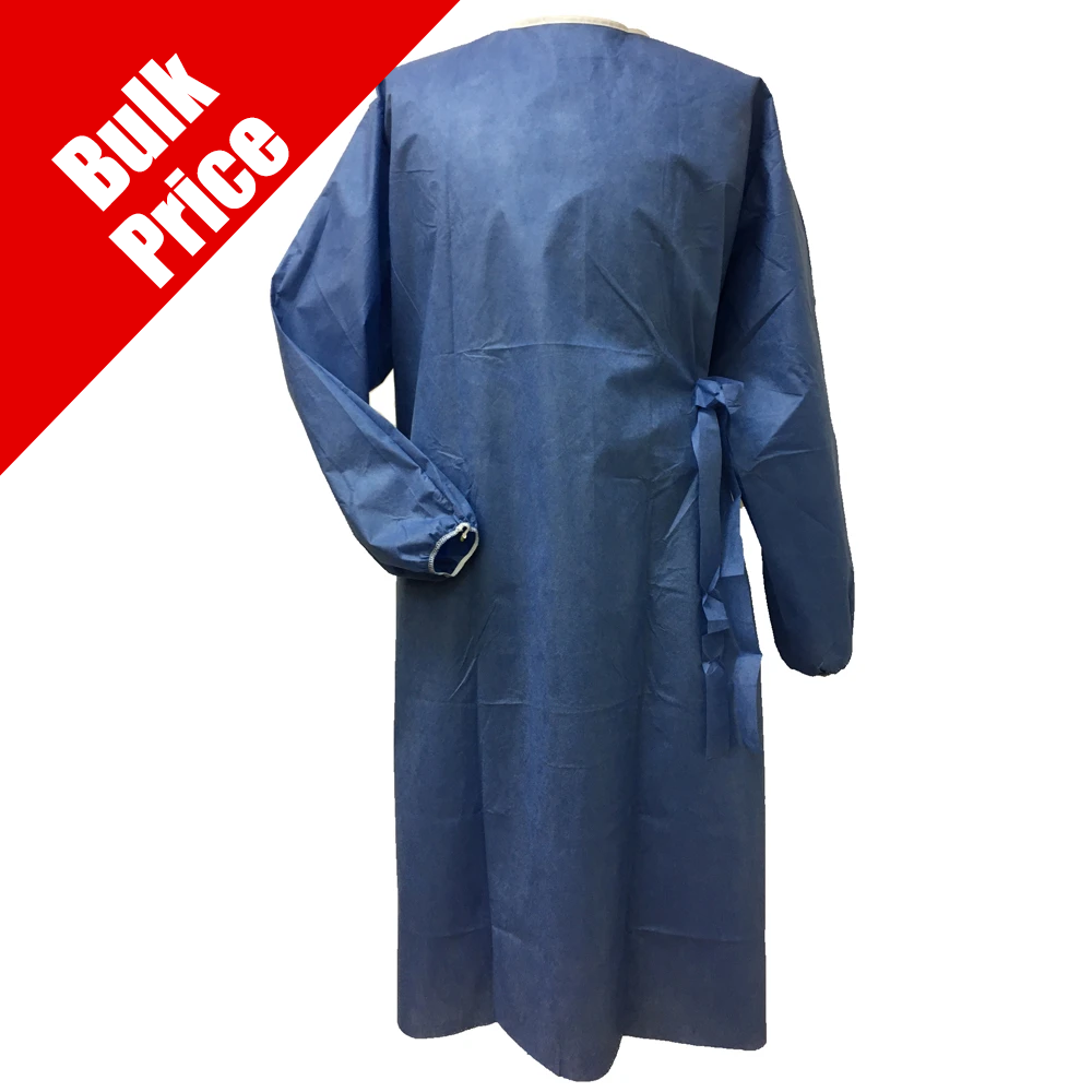 Level 1 Isolation Gown Bulk Qty 10 Cases of 75 ($1.13 / Gown)