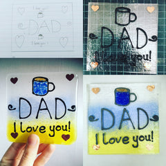 Personalised fathers day coaster