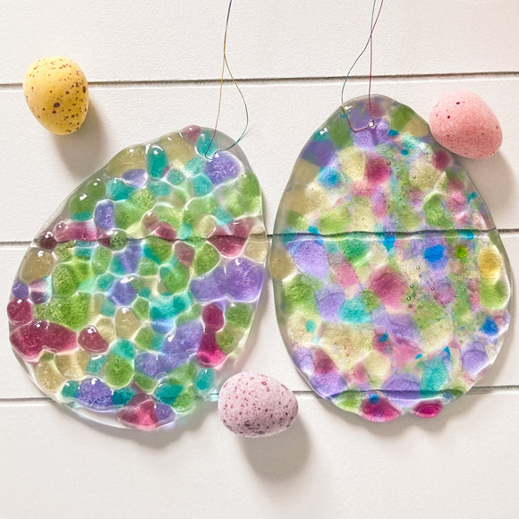 Glass Easter Egg Hanging Decoration