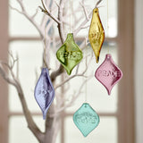Set of Glass Hanging Ornaments