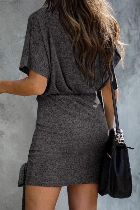 Ruched Knit Dress