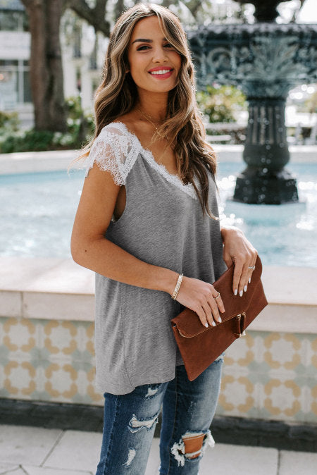 Lace Knit Tank Top