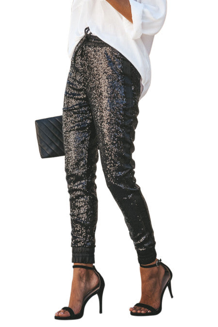 Glitter Sequin Pants