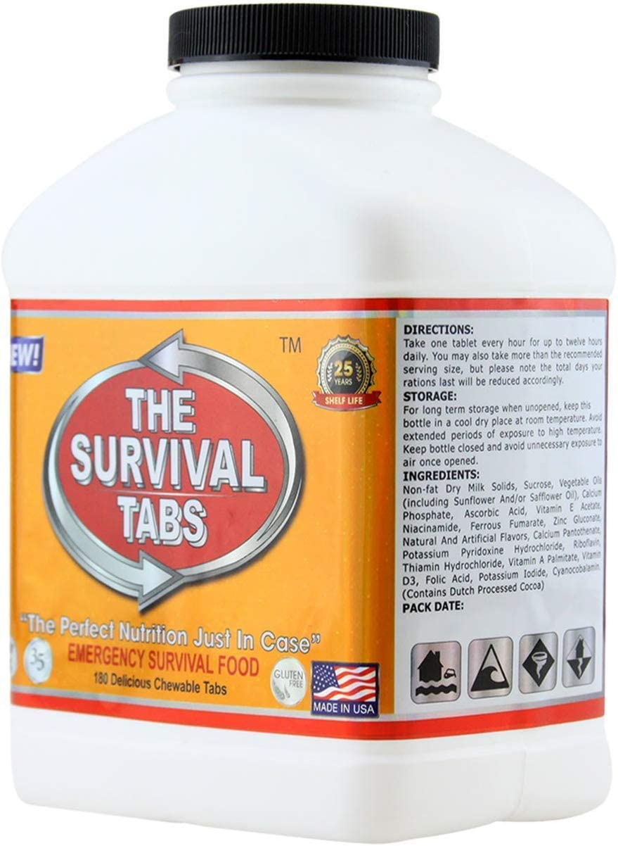 Emergency survival food supply vanilla 25-year shelf life none GMO gluten-free