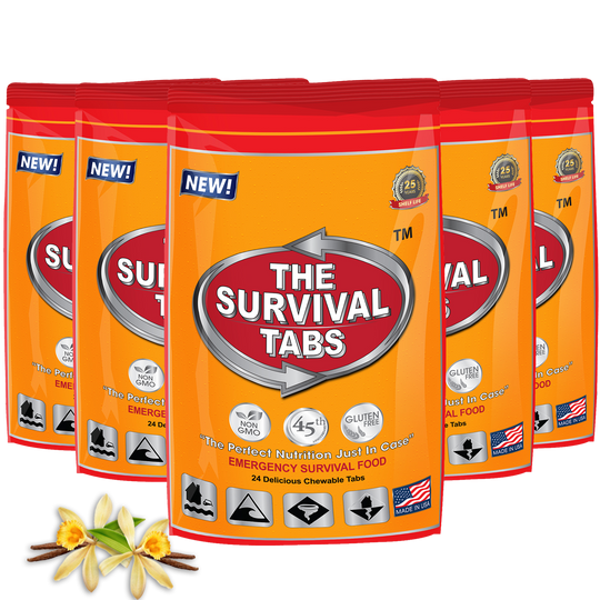 Survival Tabs - 10 Days Food Supply - Vanilla  Gluten Free and Non-GMO