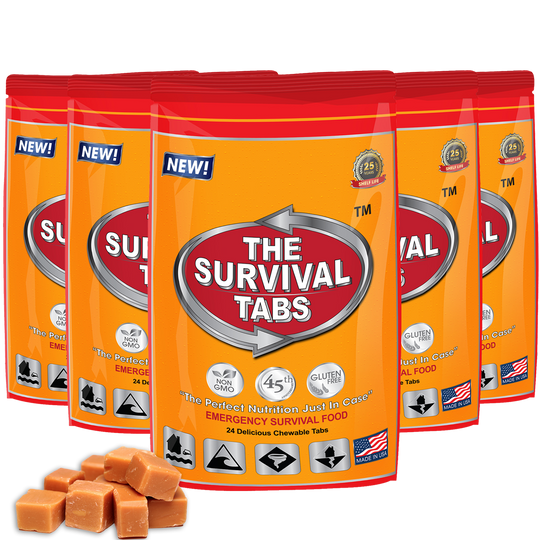 Survival Tabs - 10 Days Food Supply - Butterscotch  Gluten Free and Non-GMO