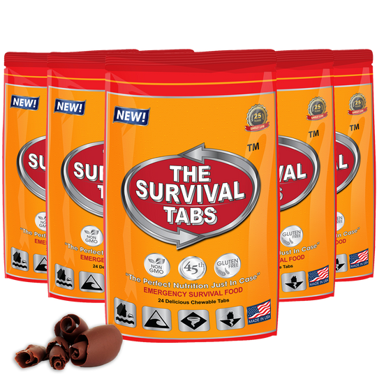 Survival Tabs - 10 Days Food Supply - Chocolate Gluten Free and Non-GMO emergency food supply