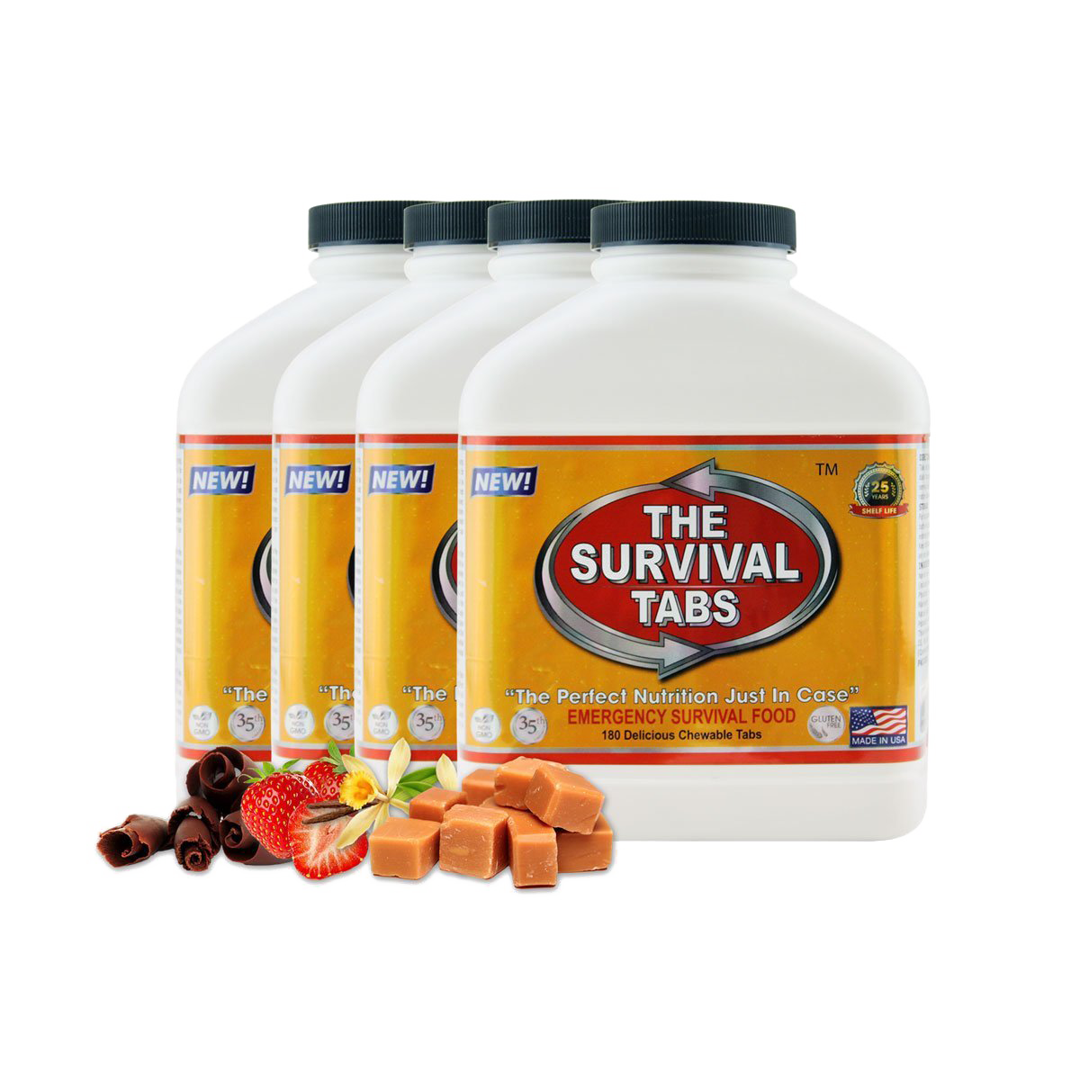 Survival Tabs 60-Day Food Supply - Mixed Flavor - Gluten Free and Non-GMO