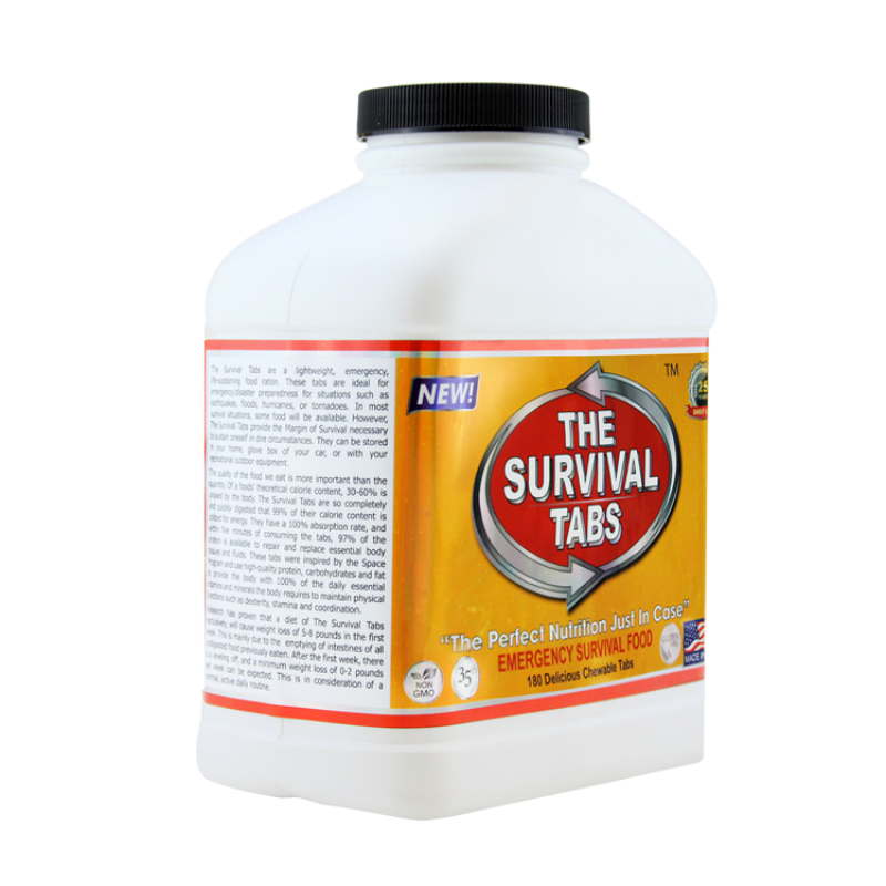 Survival Tabs 60-Day Food Supply - Vanilla Malt and Chocolate Flavor - Emergency Food Rations Gluten Free and Non-GMO