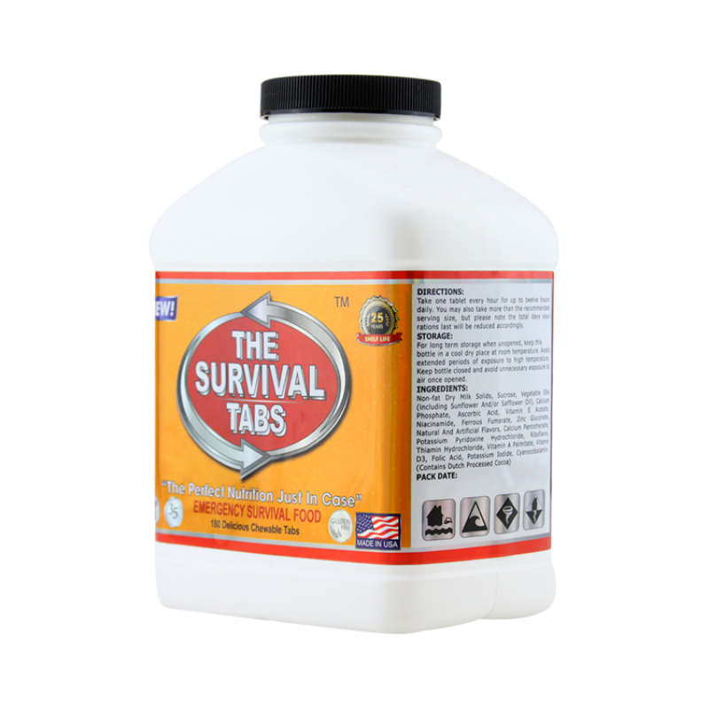 Survival Tabs 60-Day Food Supply - Vanilla Malt and Strawberry Flavor - Survival Food Gluten Free and Non-GMO