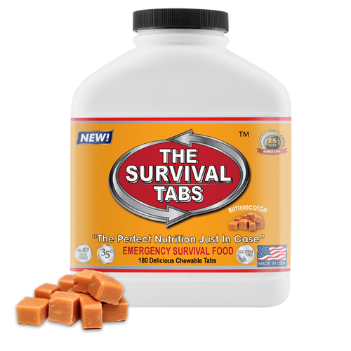 Survival Tabs - 15-Day Food Supply - Butterscotch - Gluten Free and Non-GMO emergency food