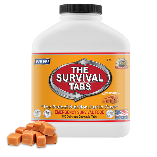 Survival Tabs - 15 Days Food Supply - Butterscotch Emergency Food Gluten Free and Non-GMO Survival food