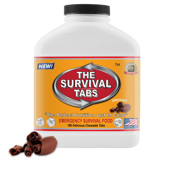Survival Tabs - 15-Day Food Supply - Chocolate - Gluten Free and Non-GMO