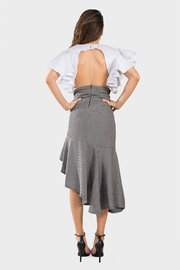 Asymmetric Midi Skirt