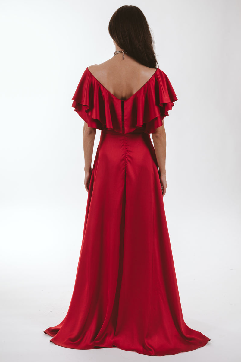 Tresor Long Dress (red)