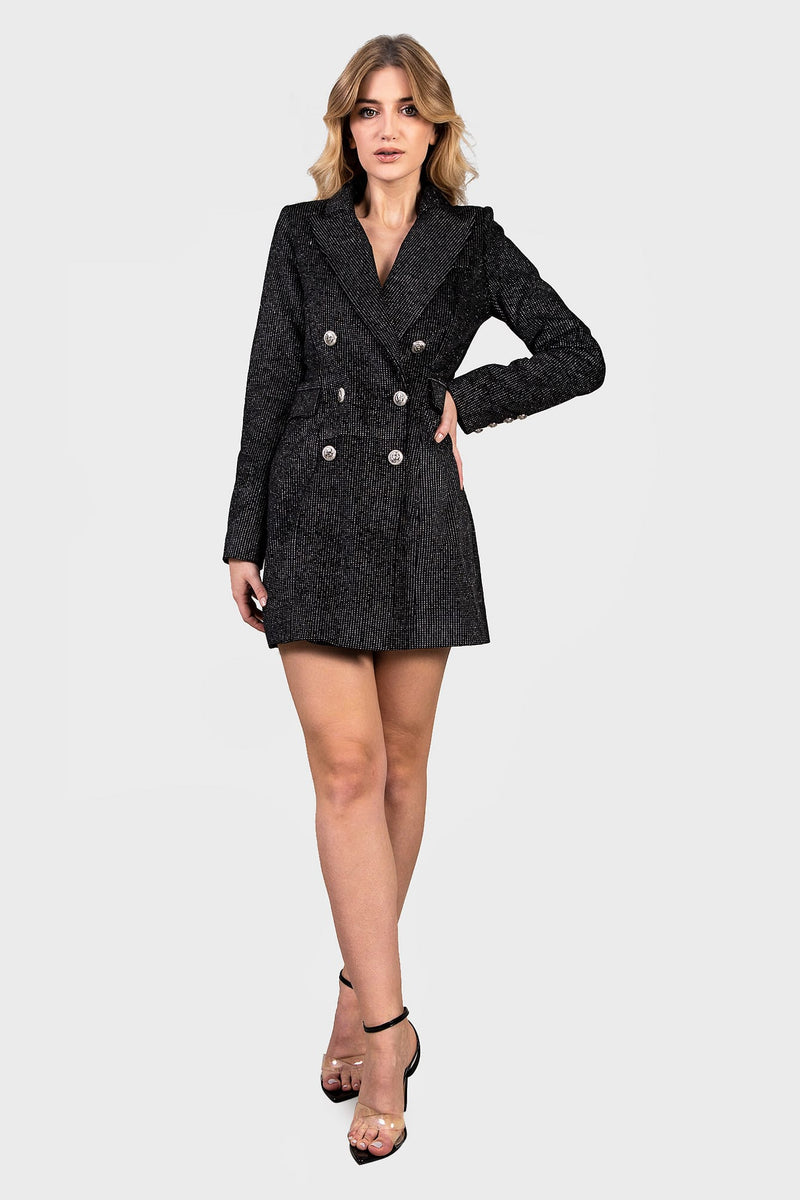 Silver Dots Blazer Dress