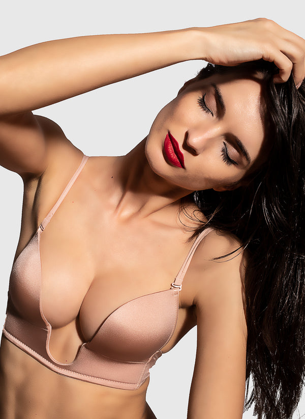 Deep V Lingerie (cream)