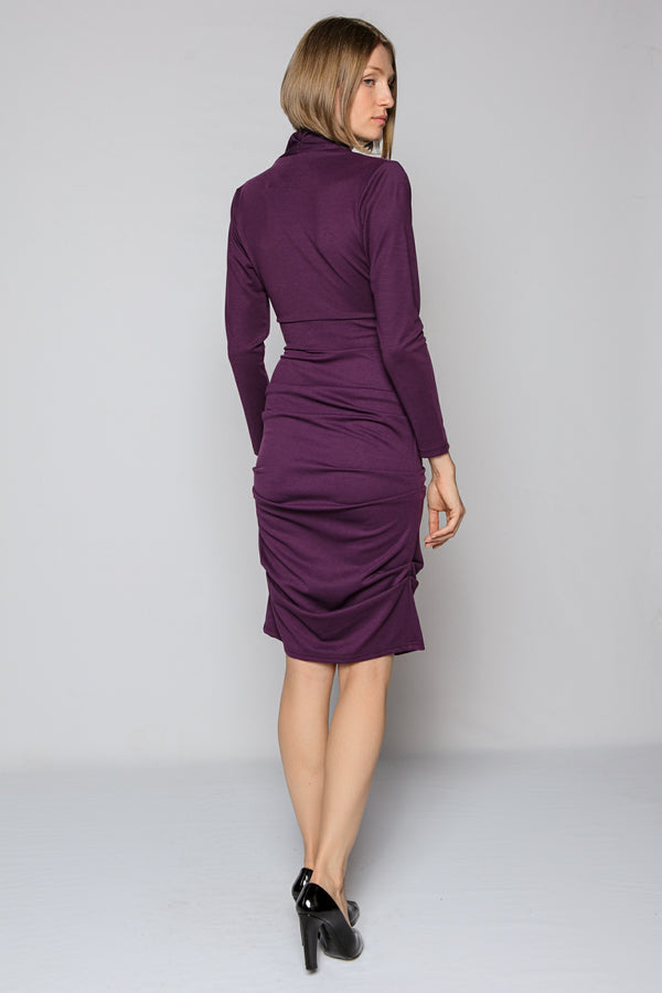 Purple Draped Dress