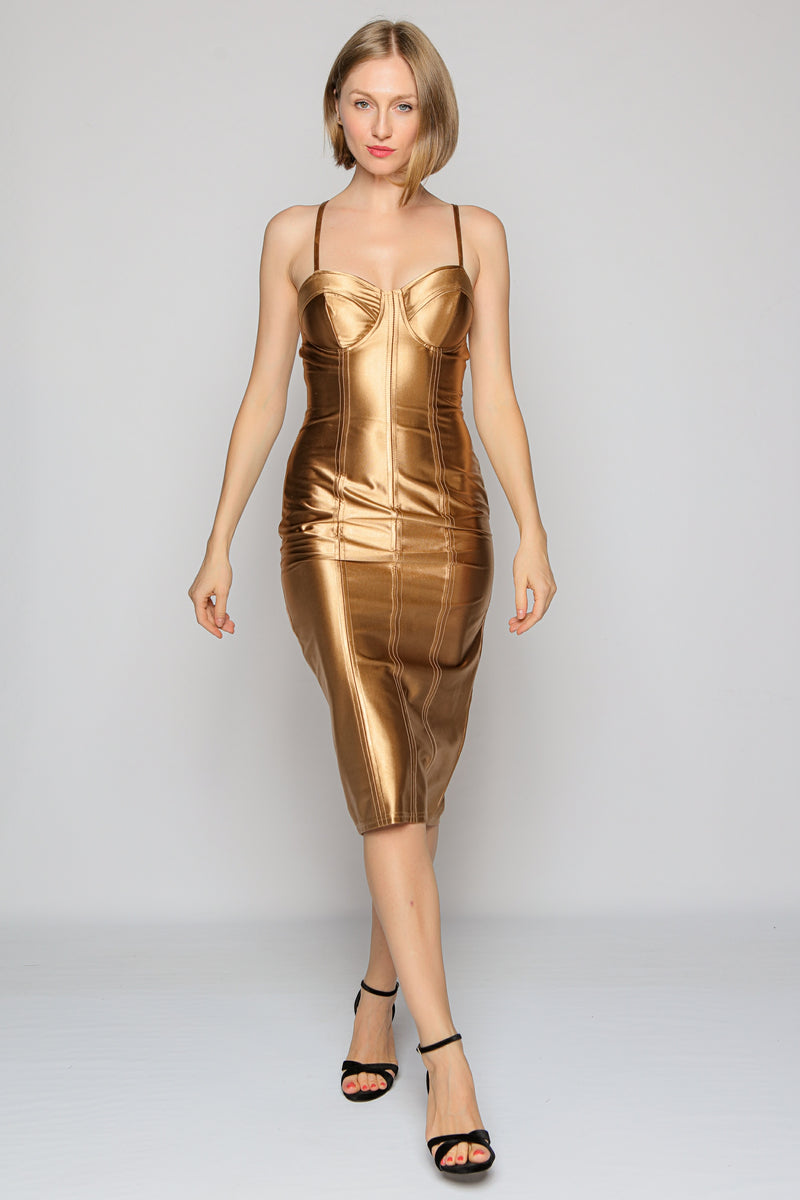 Bodycon Dress (gold)