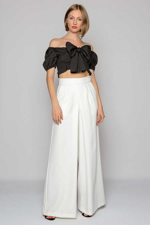 Wide Leg Pants (white)