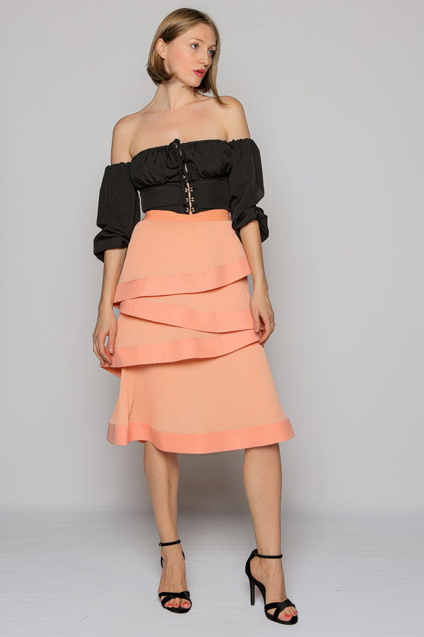 Summer Promise Salmon Skirt