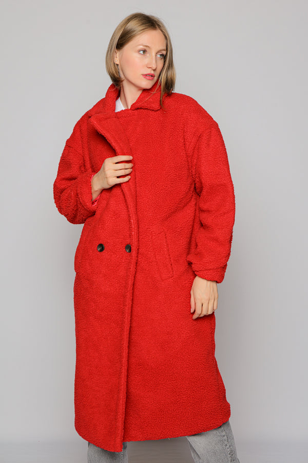 Teddy Coat (red)