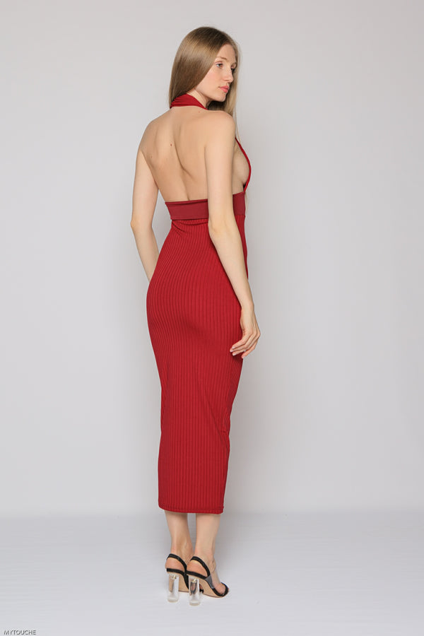 Scarlett Dress (burgundy)