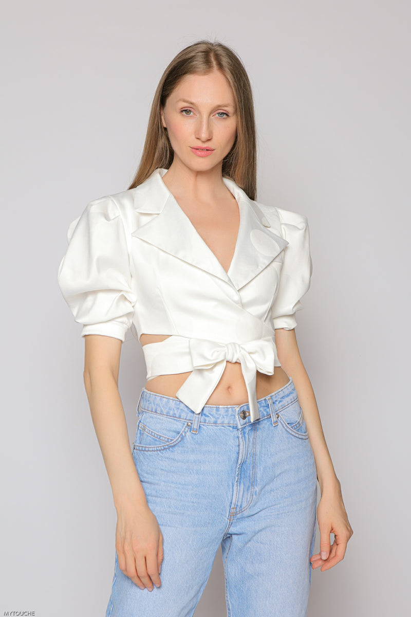 White Damsel Top