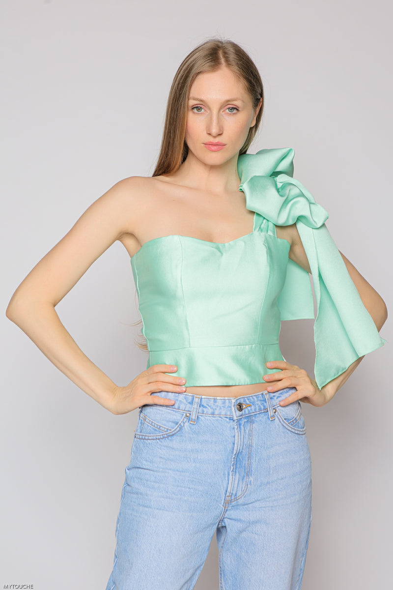 Shoulder Bow Top (green)