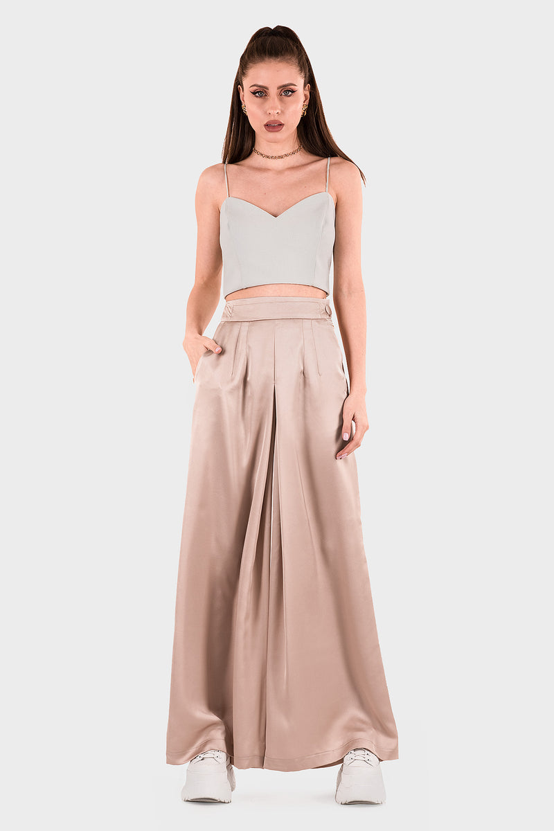 Wide Leg Pants (peach)