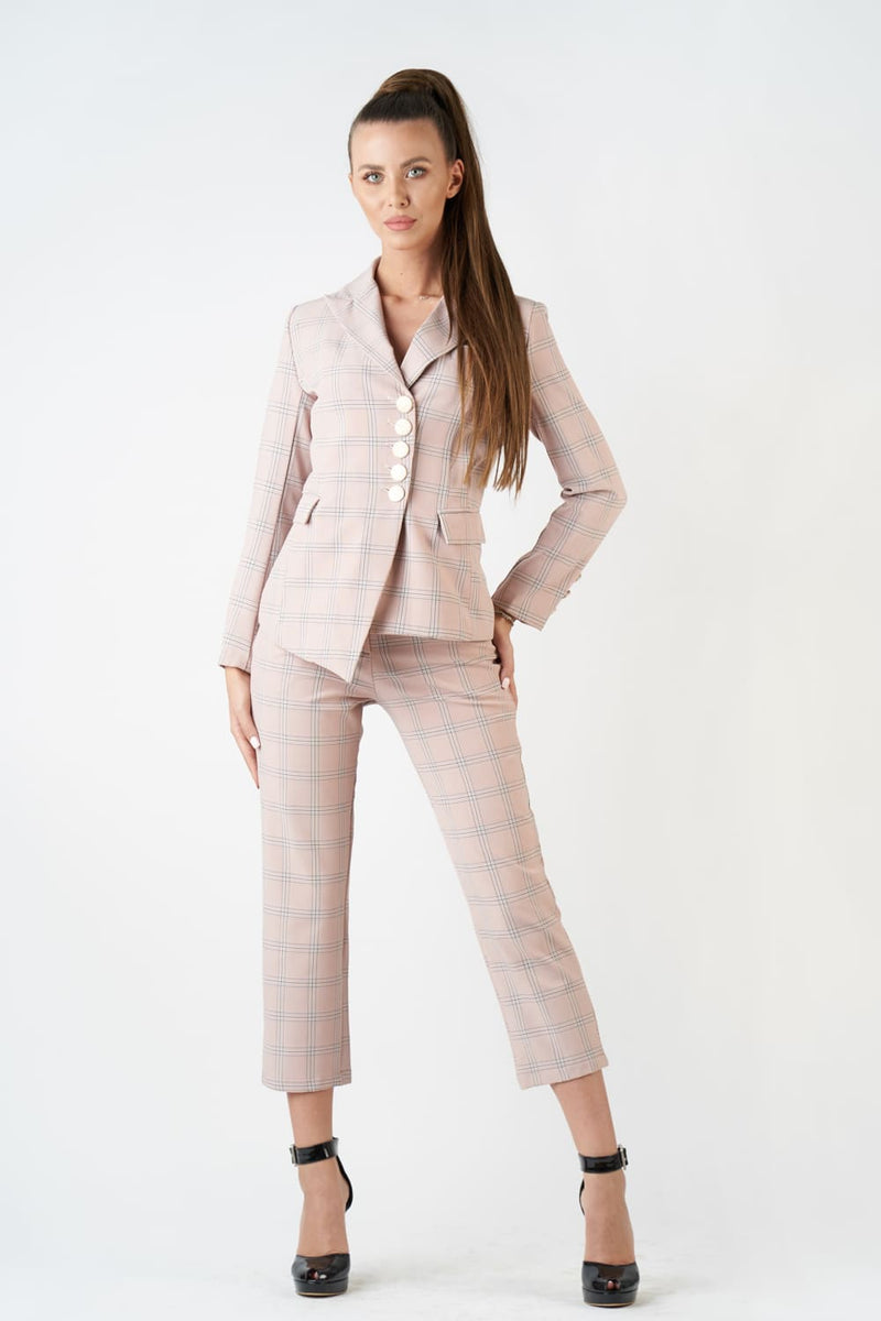 Pink Plaid Suit