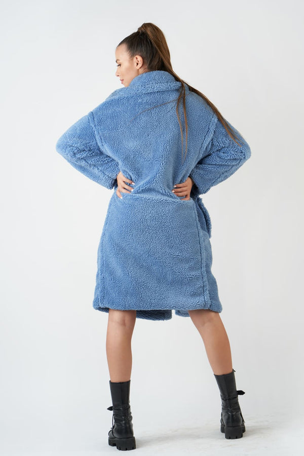 Teddy coat (blue)