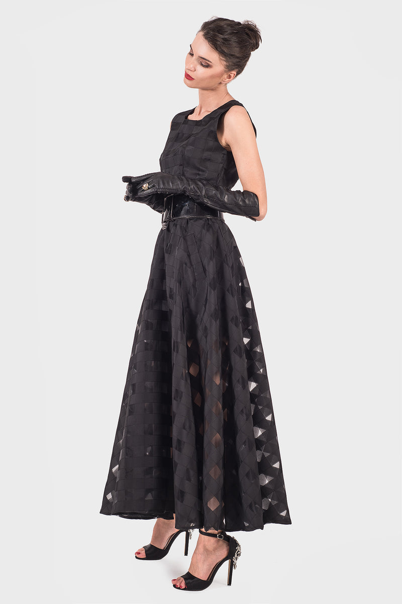 Dainty Organza Black Dress