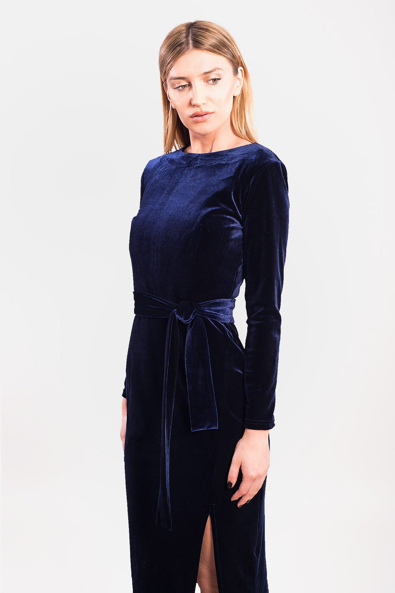 Midnight Velvet Dress