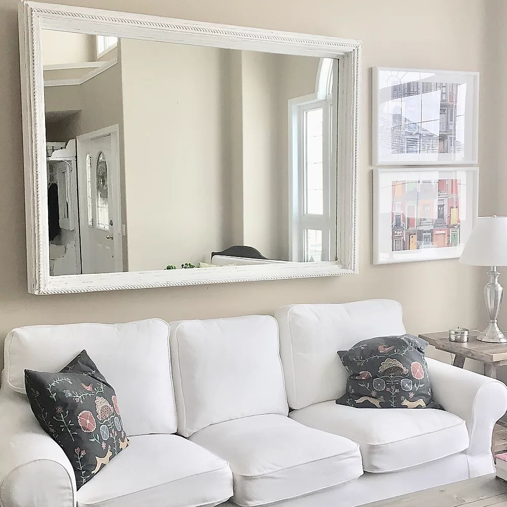 Rustic Modern Wall Mirror Aged | | CUNA Furniture | Custom Furniture Alberta