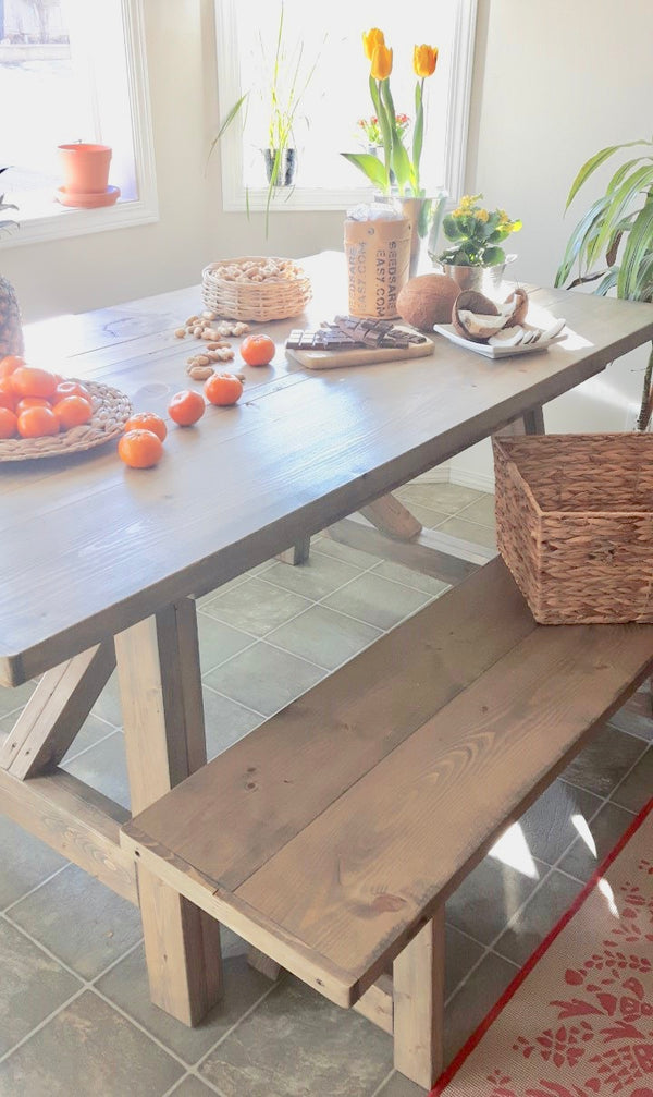 Arles Rustic  Modern Dining Table | CUNA Furniture Makers | Custom Furniture Calgary