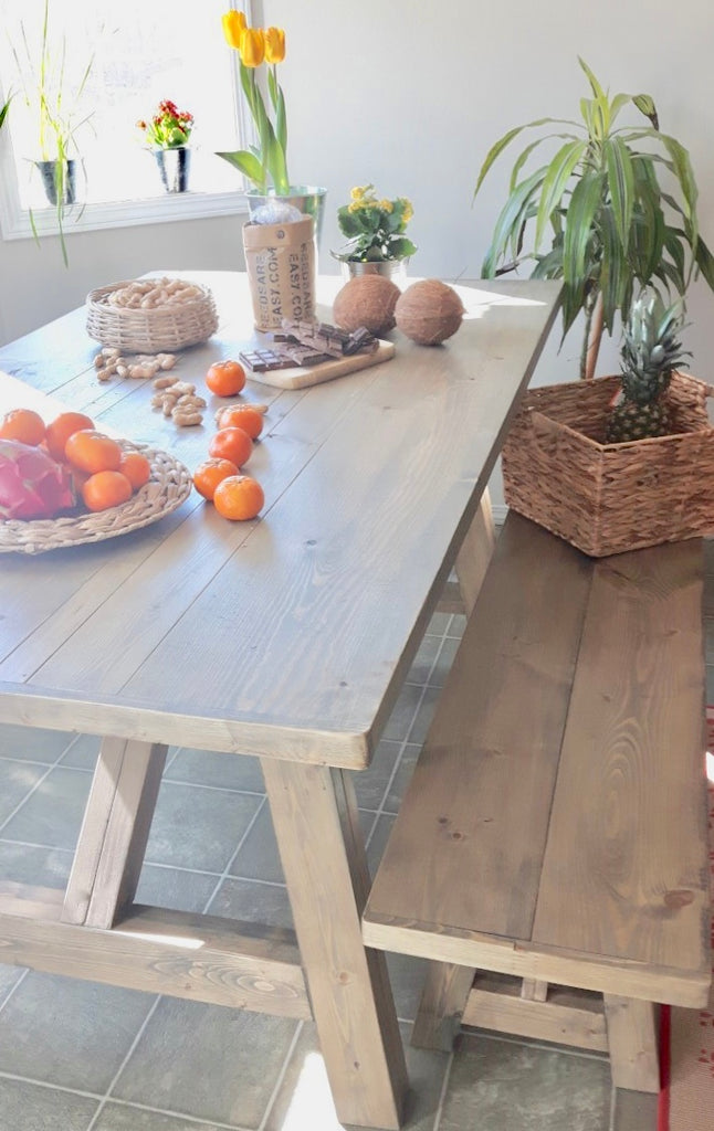 Arles Rustic  Modern Dining Table | CUNA Mediterranean Concept