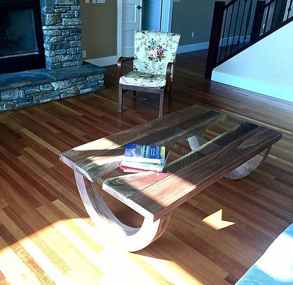 Gades Black Walnut Coffee Table | CUNA Furniture Makers | Custom Furniture