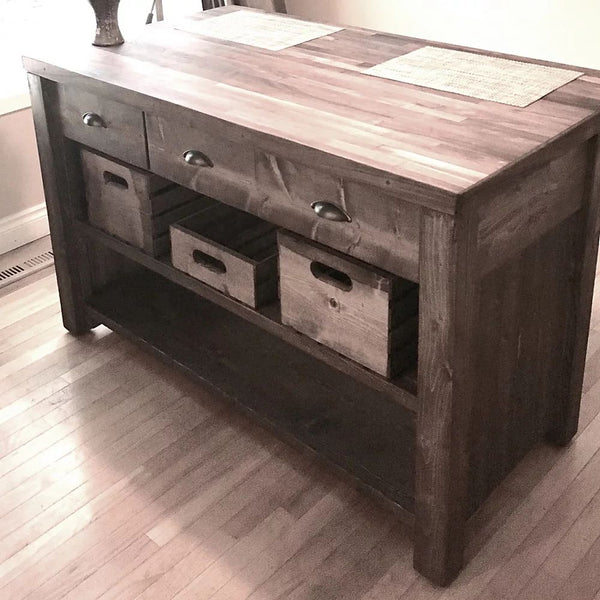 Canadian Black Walnut Kitchen Island | CUNA Furniture Makers