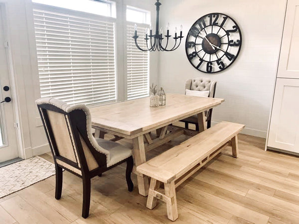 Maple Medina Dining Table & Benches | CUNA Furniture Makers