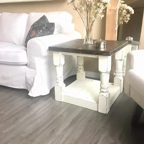 Machada Rustic Modern End Table | CUNA Mediterranean Concept